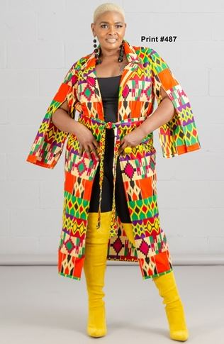 7526 - African Print Duster (3/pk) Free Size - $20.00 Each