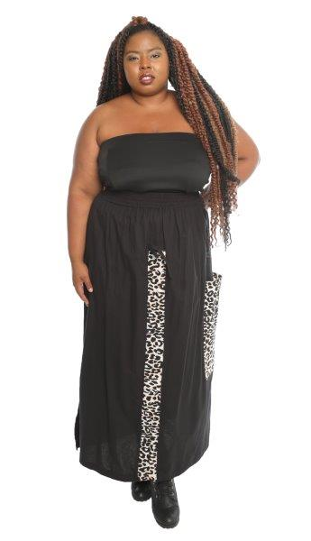 9041S - African Print Shirred-front 1 Pocket Skirt (3/pk) - Free Size - $20.00 Each