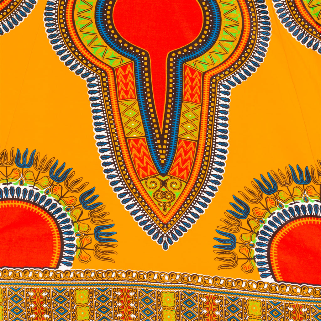 7001SKD - 8 Panel Dashiki Print Skirt - Authentic African Wax (3-PCS PRE-PACK) - $25 Each