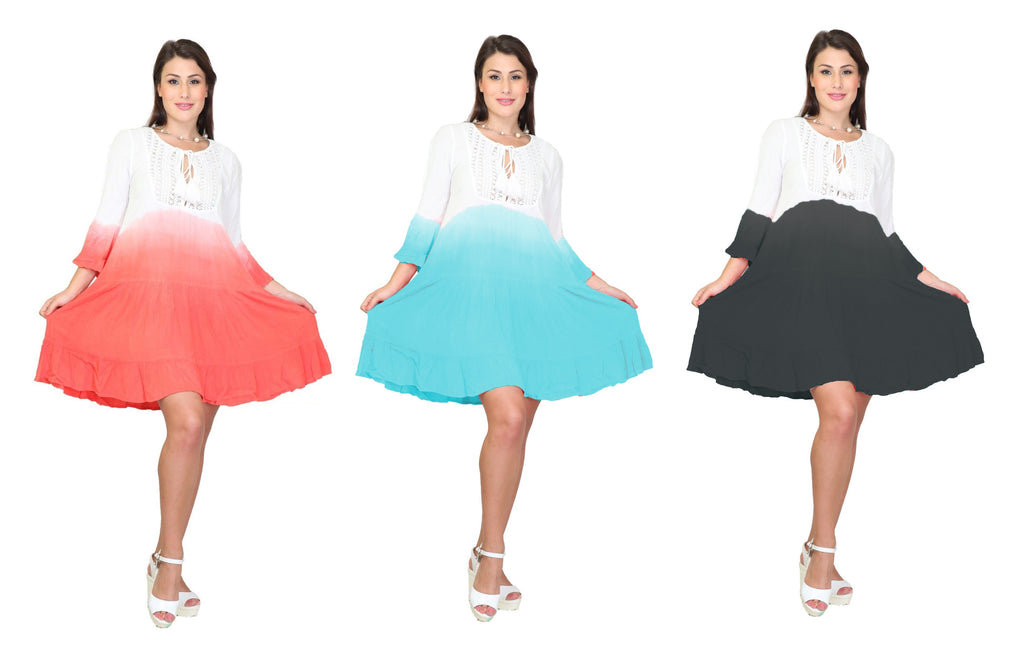 PNA-1136- Lightweight & Comfortable Casual Cover-Up Dress (6-PCS PRE-PACK)