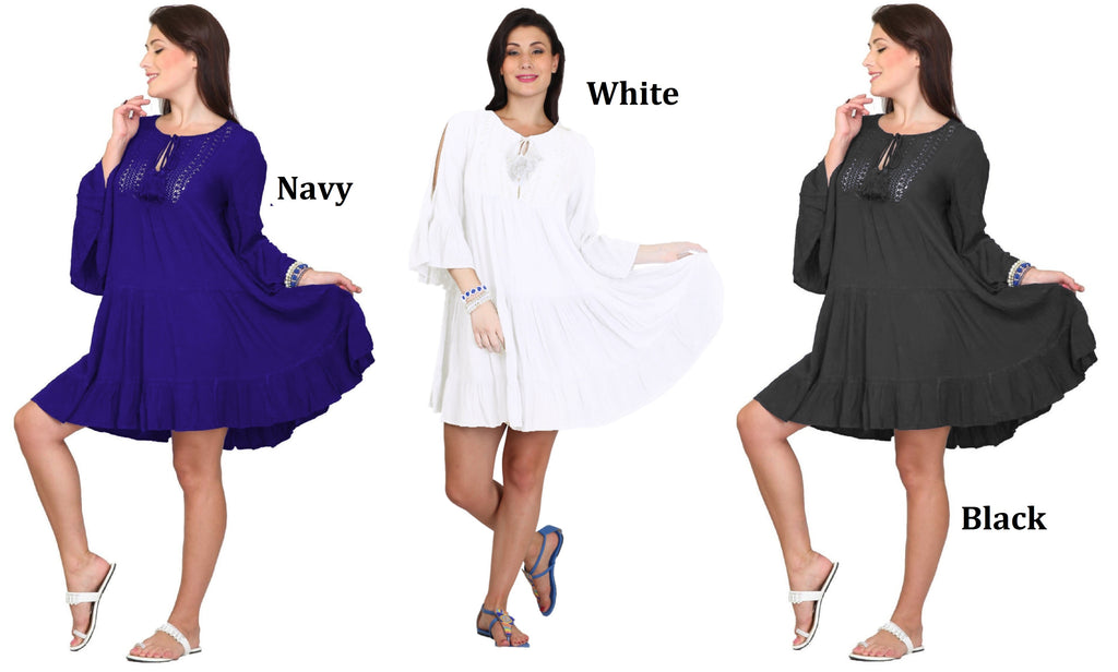 PNA-1137- Lightweight & Comfortable Casual Cover-Up Dress (6-PCS PRE-PACK)