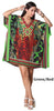 PNA-1300 - Women's Short Kaftan Abstract Animal Print Caftan Tunic - One Size (4-PCS PRE-PACK)