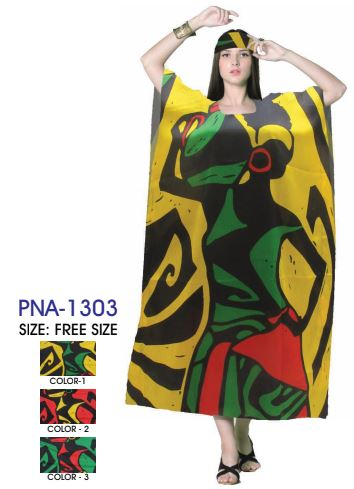 PNA-1303- Women's Colorful Raasta Long Kaftan - One Size (12-PCS PRE-PACK)