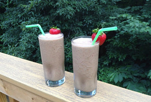 Healthy Chocolate, Peanut Butter & Banana Smoothie with Supplements