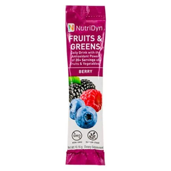 NutriDyn Dynamic Fruits & Greens TO-GO Packets (10 pack)
