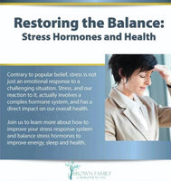 Restoring the Balance: Stress-Hormones and Health Course