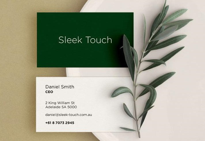 Sleek Touch Business Cards