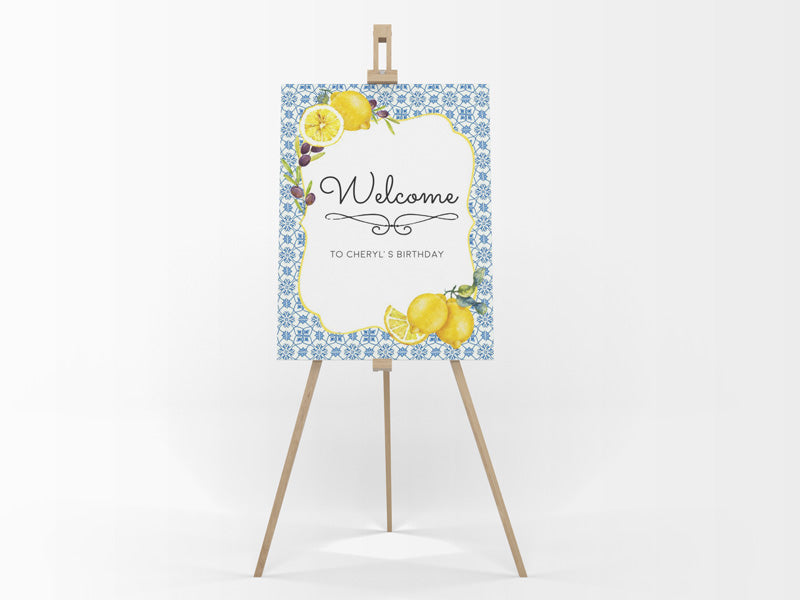 LEMON TWIST WELCOME BOARD