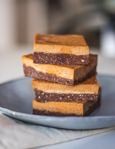 banana cacao fudge bars
