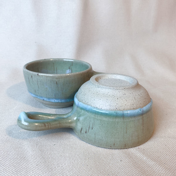 Jade French Onion Soup Bowl Pair