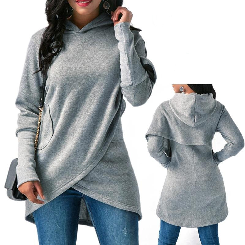 Women's Long Sleeve Cloak Hoodie - Premium-Hoodies.com