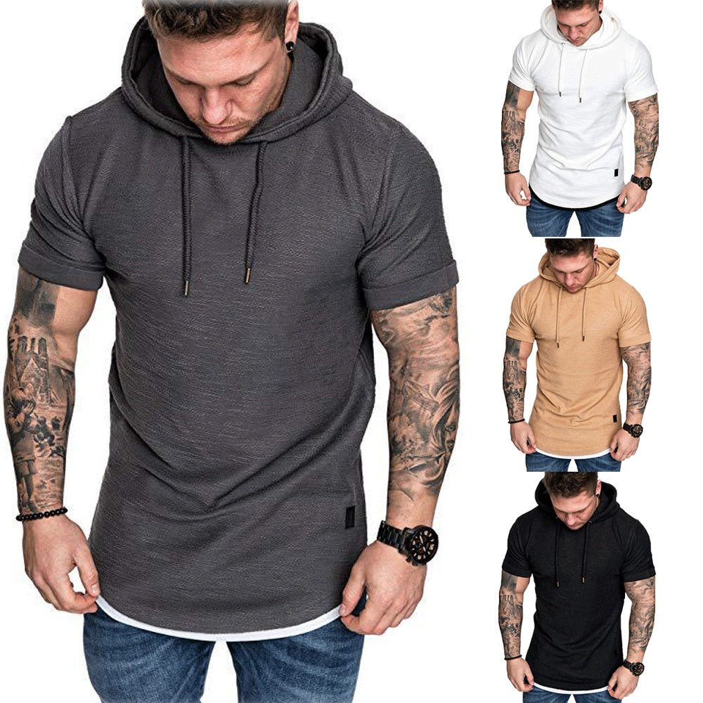 Men's Gym Short Sleeve Hoodies - Premium-Hoodies.com