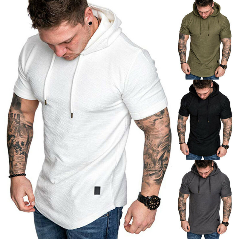 Mens Casual Short Sleeve Hoodies - Premium-Hoodies.com