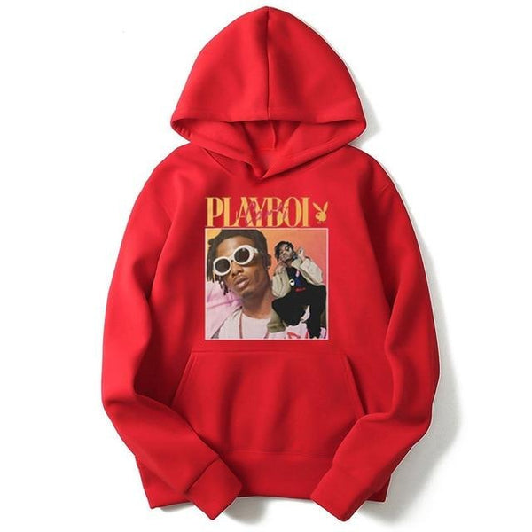 Men's Playboi Carti Hip Hop Hoodies - Premium-Hoodies.com