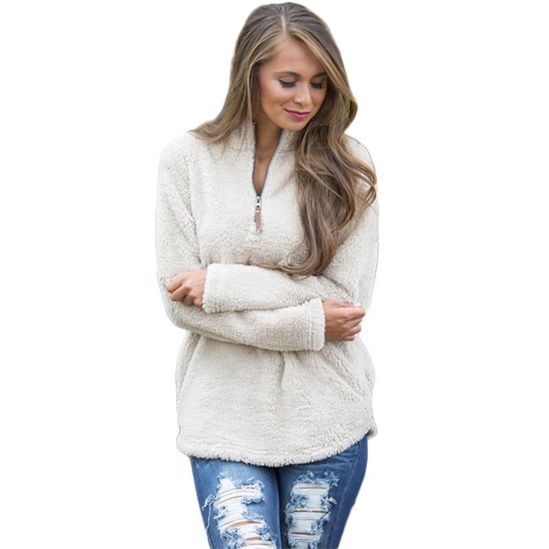 Women's Casual Long Sleeve Fleece Hoodie - Premium-Hoodies.com