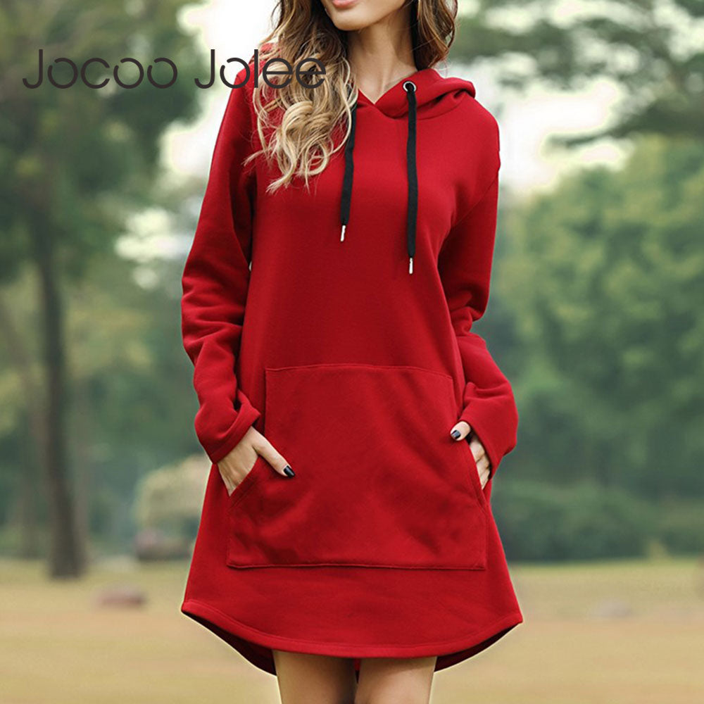 Jocoo Jolee Womens Spring Hoodie Dress - Premium-Hoodies.com