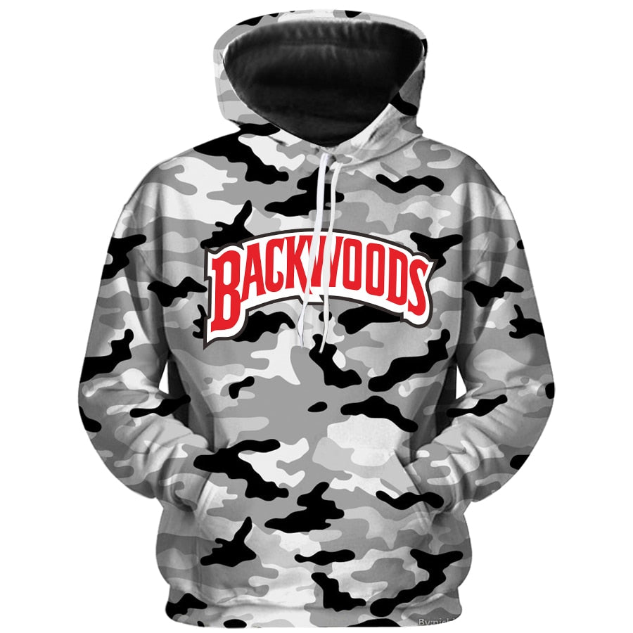 Men's Backwoods Camo Hoodies - Premium-Hoodies.com
