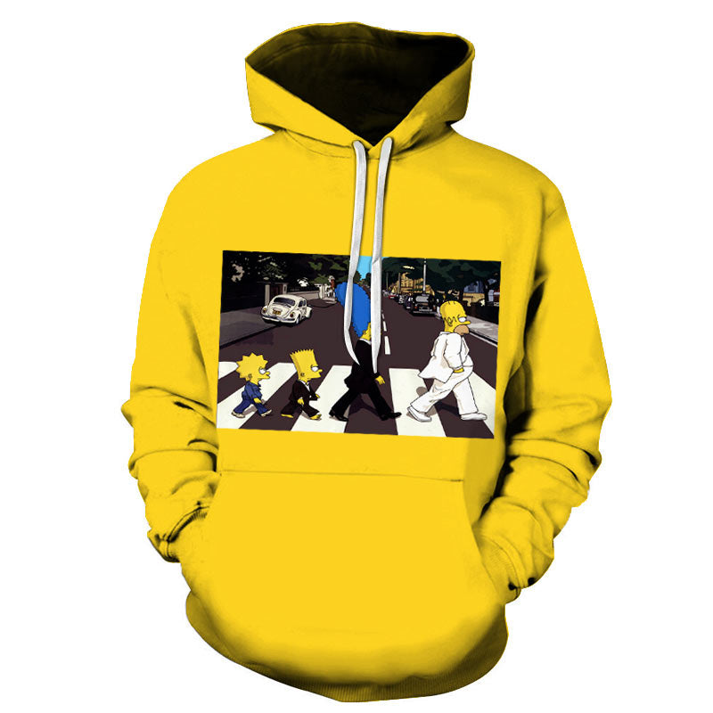 Men's Simpsons 3D Print Hoodies - Premium-Hoodies.com
