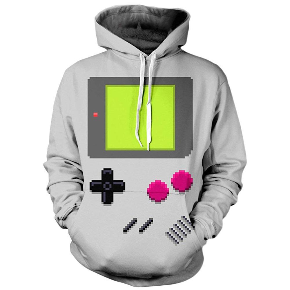 Men's 3D Print GameBoy Hoodie - Premium-Hoodies.com