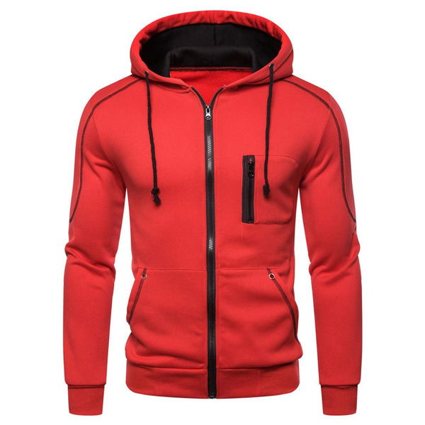 Men Casual Sports ZipUp Hoodie - Premium-Hoodies.com