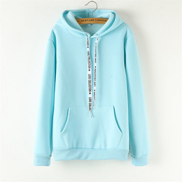 Women's Cozy Solid Color Hoodies - Premium-Hoodies.com