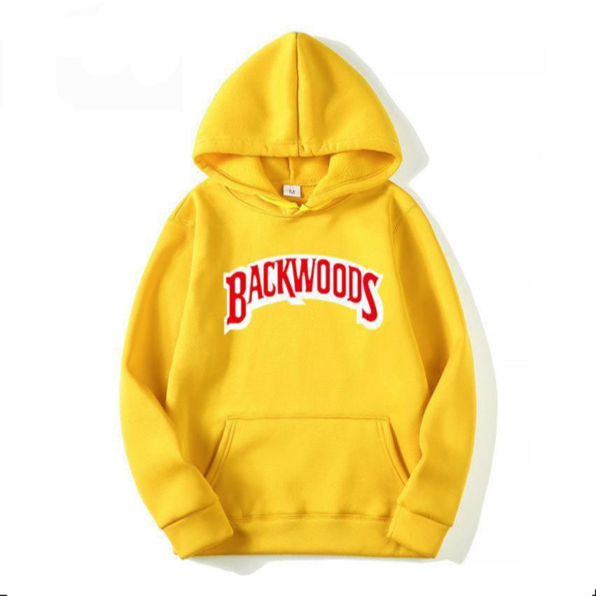 Yellow BACKWOODS Pullover Hoodie