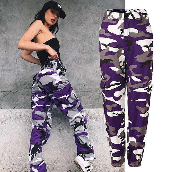 Women High Waist Army Pants