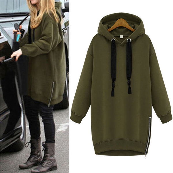 Women's Cozy Oversized Long Sleeve Hoodies