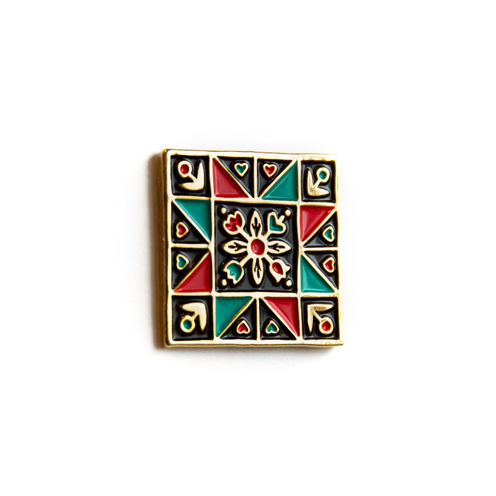 Quilt Block - Enamel Pin