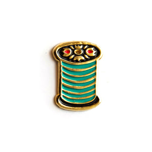 Load image into Gallery viewer, Spool of Thread - Enamel Pin