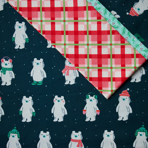 Load image into Gallery viewer, Flurry Bears (Navy) - Pillow Case Kit