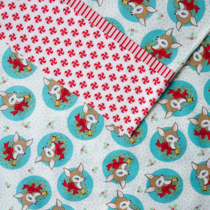 Load image into Gallery viewer, Deer Christmas (Aqua) - Pillow Case Kit