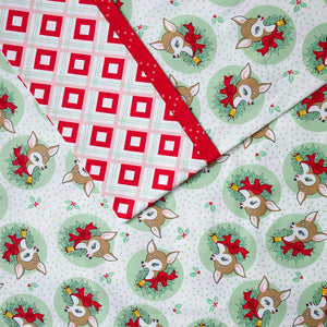 Deer Christmas (Green) - Pillow Case Kit