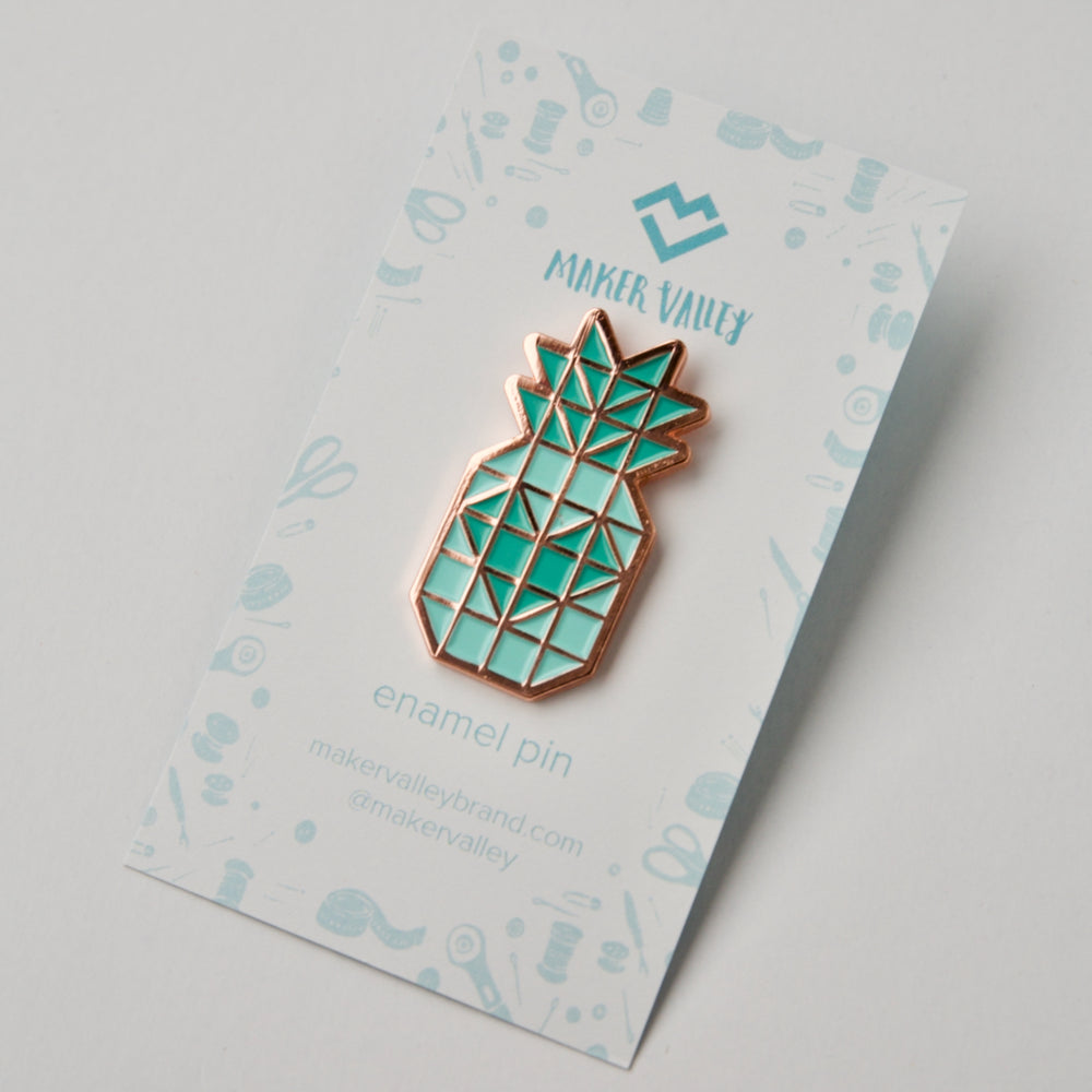 Pineapple Love Block - Enamel Pin