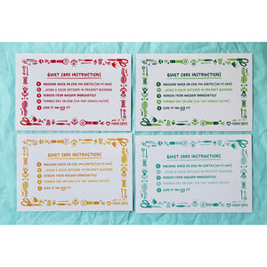 Load image into Gallery viewer, Quilt Care Instruction Cards - 12 pack