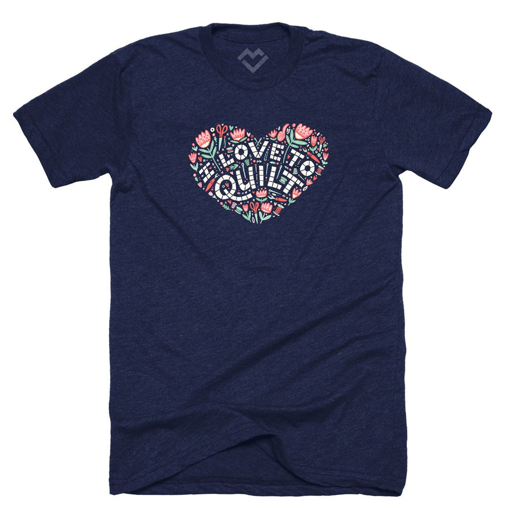 I Love to Quilt Heart T-shirt