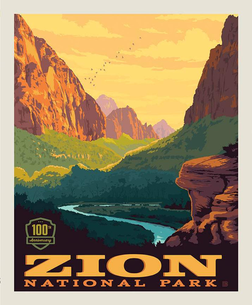 National Parks Poster Zion - Panel