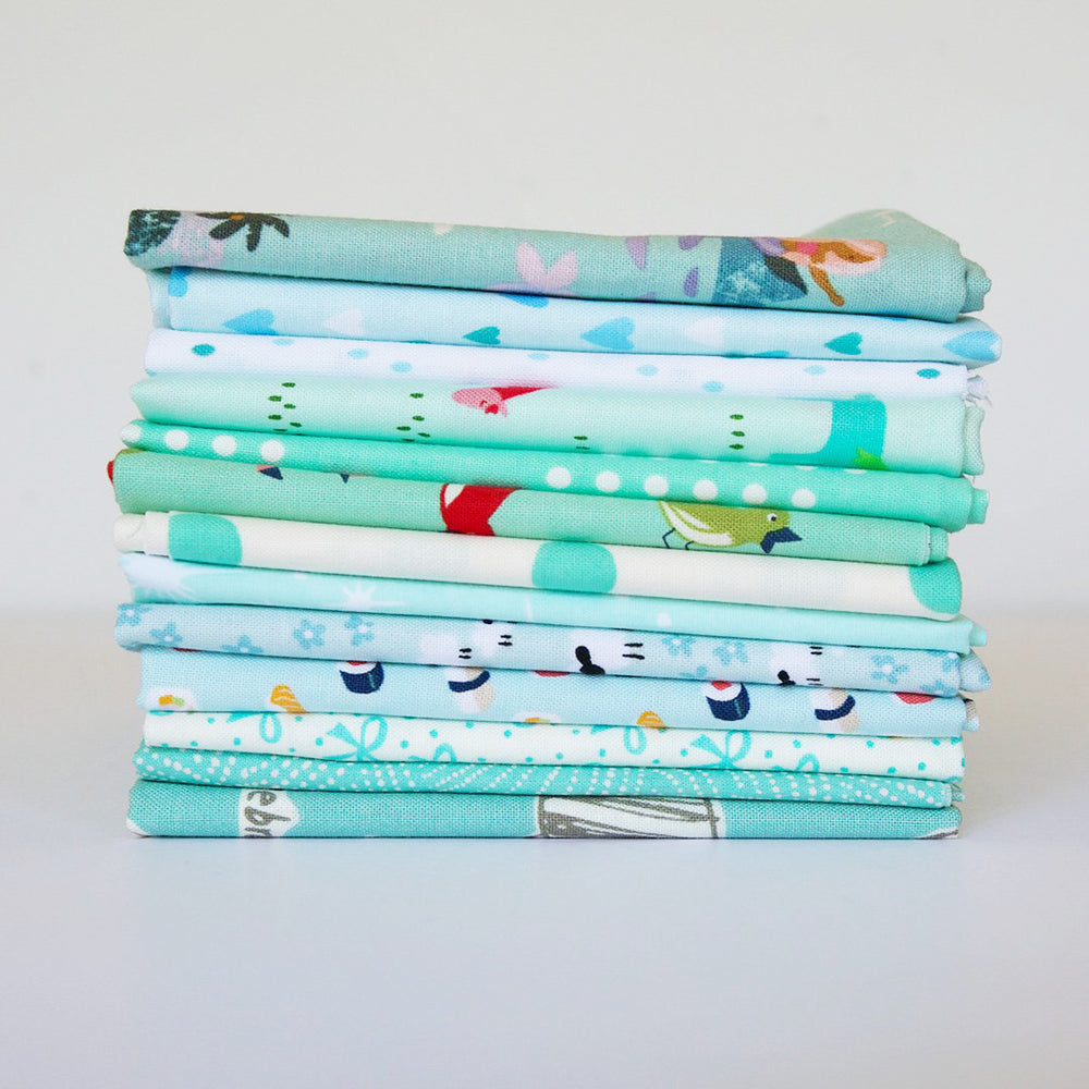 Aqua - Fat Quarter Bundle
