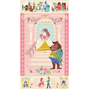 Beauty and the Beast - Panel (Pink)