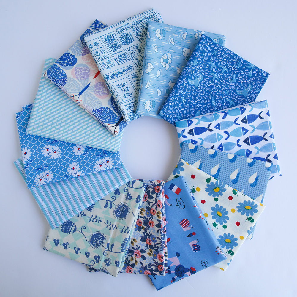 Bright Blue - Fat Quarter Bundle