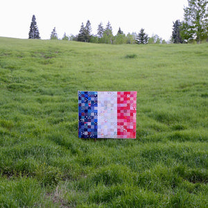 Load image into Gallery viewer, Bonjour - France Flag Quilt Pattern - Paper Pattern - Maker Valley
