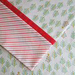 Tinsel Trees (Red Cuff) FLANNEL - Pillow Case Kit