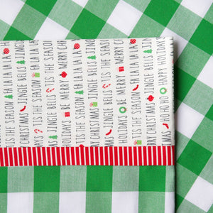 "Carolina Gingham 1"" (Green and White) - Pillow Case Kit"
