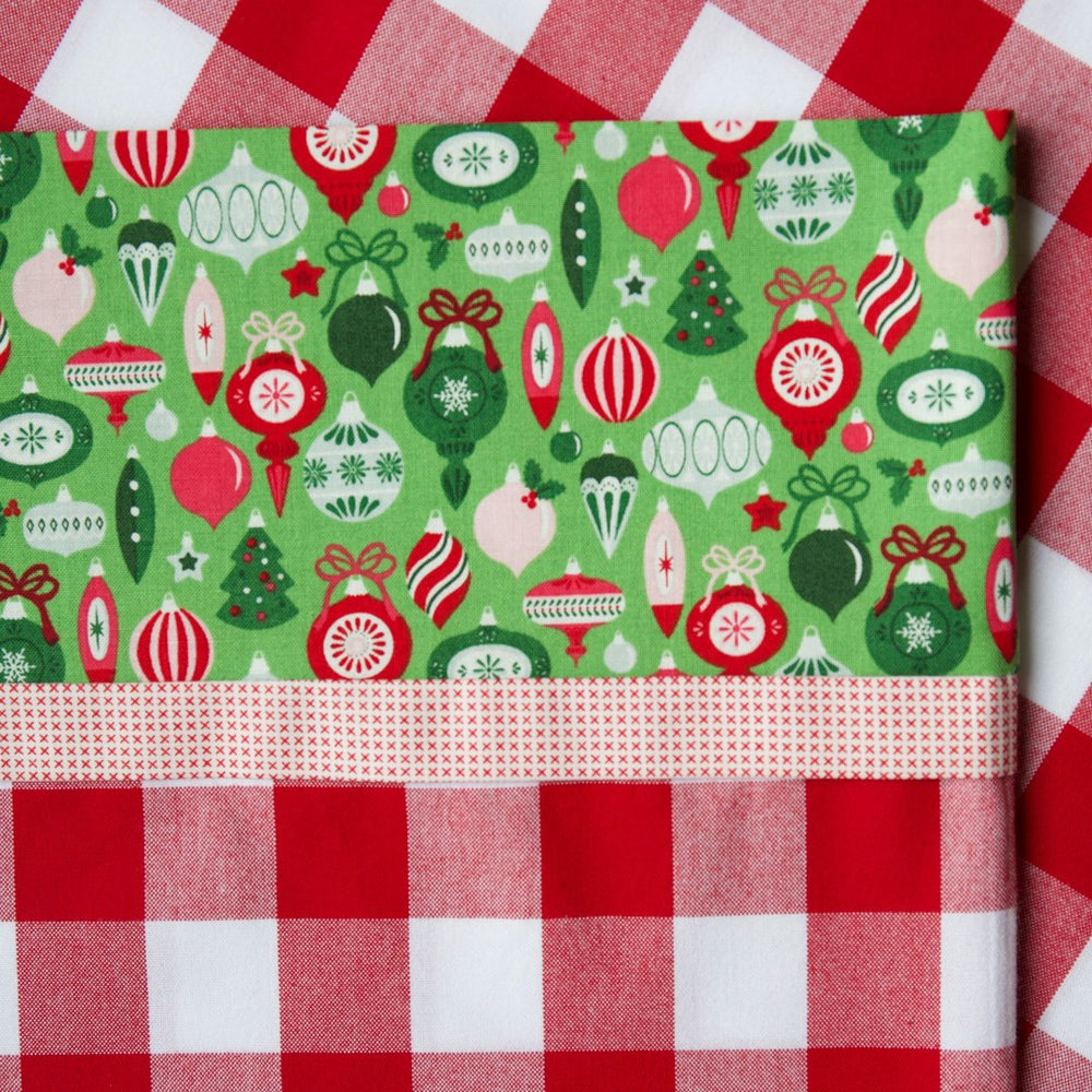 "Carolina Gingham 1"" (Red and White) - Pillow Case Kit"