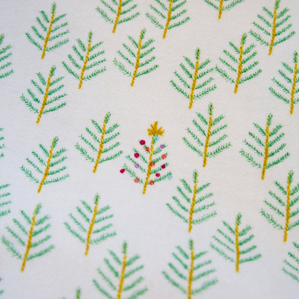 Tinsel by Cotton + Steel - Christmas Forest - FLANNEL Fabric Backing