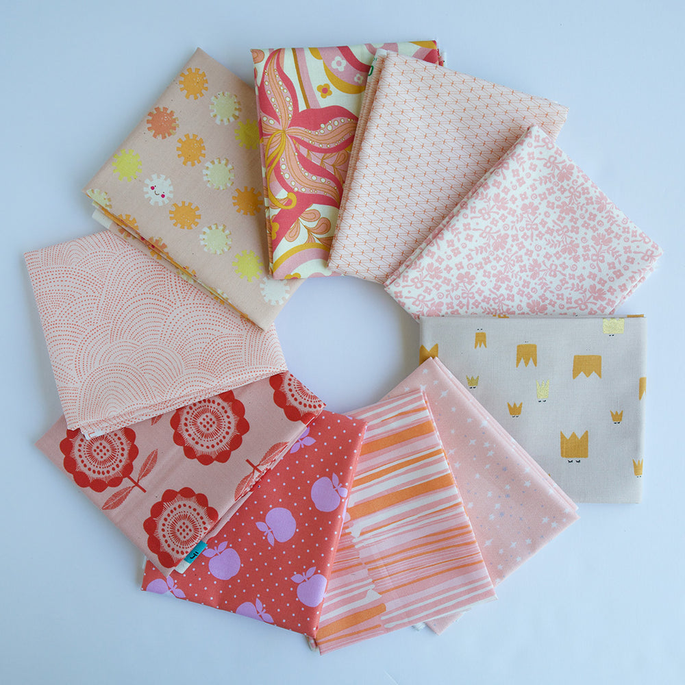 Coral Pink - Fat Quarter Bundle