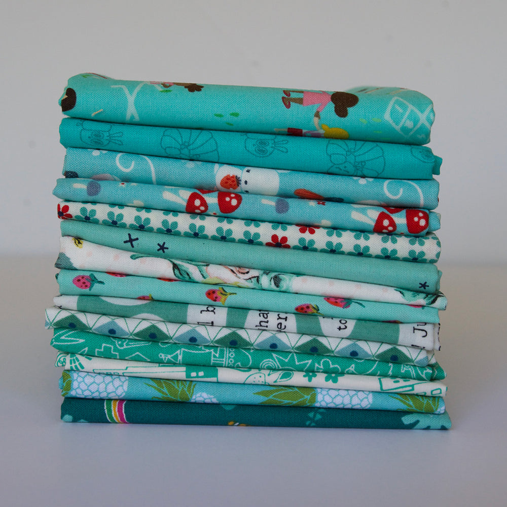 Dark Aqua - Fat Quarter Bundle