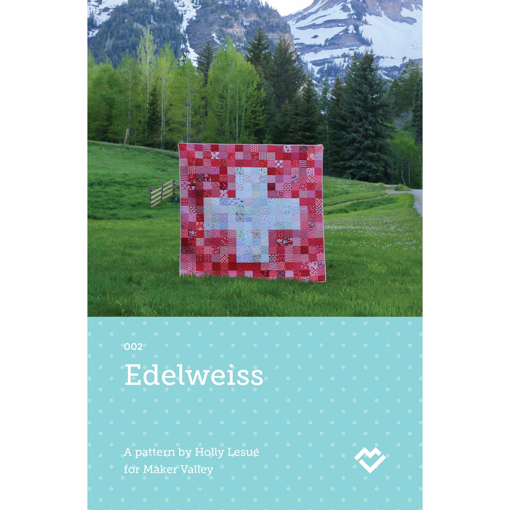 Edelweiss - Switzerland Flag Quilt Pattern - Paper Pattern - Maker Valley