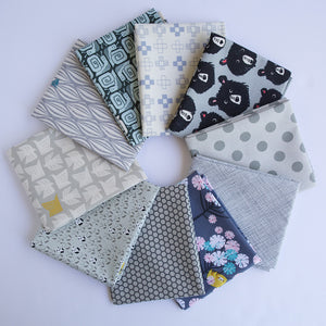 Load image into Gallery viewer, Gray - Fat Quarter Bundle