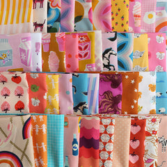 Groovy scrappy fabric bundle and quilt by Maker Valley